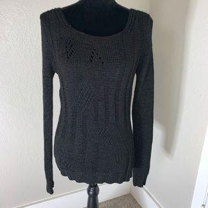 bcbgmaxazria Black cable knit sweater